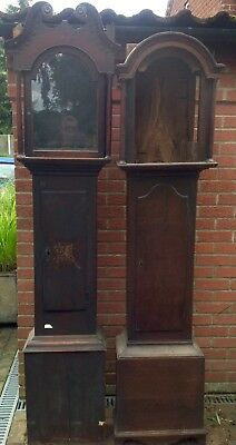 Two Vintage Longcase / Grandfather Clock Cases.