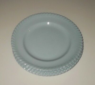 4x Vintage Johnson of Australia Blue Pie Crust Bread and Butter Side Cake plates