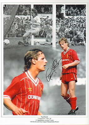 "PAUL WALSH-LIVERPOOL & ENGLAND-HAND SIGNED 12x16"" PHOTOGRAPH-AFTAL/UACC RD316"