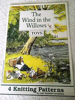 KNITTING PATTERN BOOKLET  WIND in the WILLOWS TOYS'  by GARY KENNEDY 4 patterns