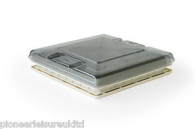 FIAMMA 50 x 50 ROOF VENT WITH CRYSTAL TOP FOR MOTORHOMES & CAMPERVANS(01668-01D)