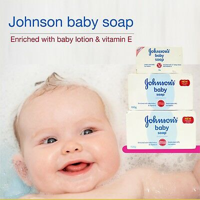 Johnson's Baby Soap Enriched With Baby Lotion & Vitamin E  25g/100g/ 150g
