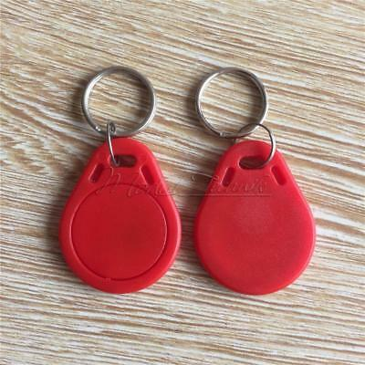 5PCS Red RFID Sensor Proximity Card IC Key Tags Keyfobs Keychain 13.56MHz New