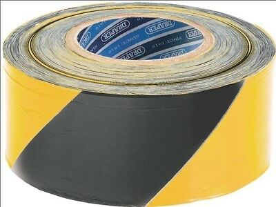 Draper 69009 500m x 75mm Black and Yellow Barrier Tape Roll