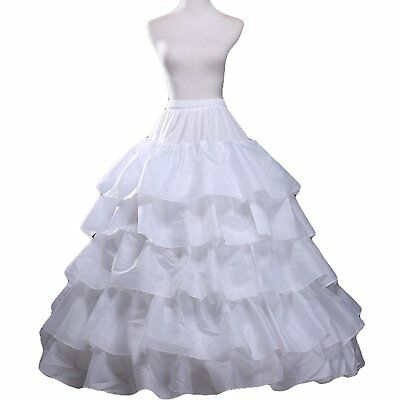 Petticoat Skirt for Girls and Women Puffy Ball Gown Slip 4 Hoop 5 Ruffles for