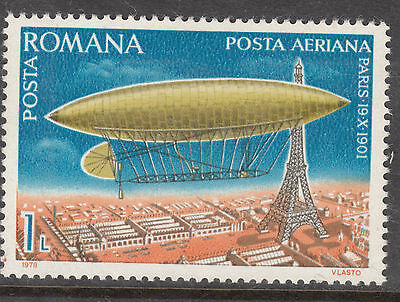 ROMANIA 1978 1 L Zeppelin Air mail MINT UNHINGED