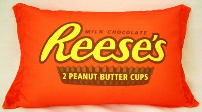 Reeses Peanut Butter Cup Candy Pillow