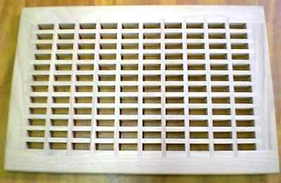 """Red Oak Wood Cold Air Return Register Vent Cover For 22"""" L x 14"""" W Duct Opening"""