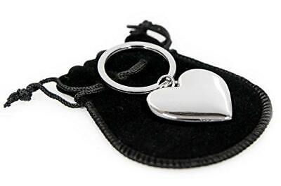 Personalised Silver Heart Shaped Keyring CAN BE ENGRAVED