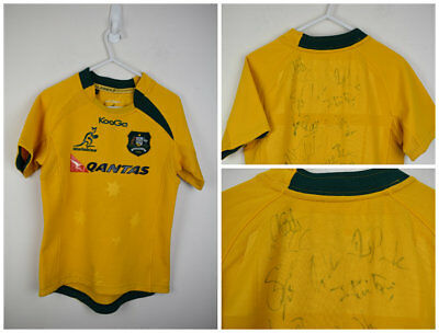 Signed Wallabies Jersey Kooga 2013 Size 8 Rugby Union shirt