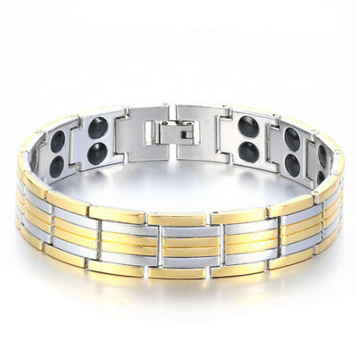 Bracelet LUXE Titane Germanium énergie magnétique Antifatigue Anti-stress