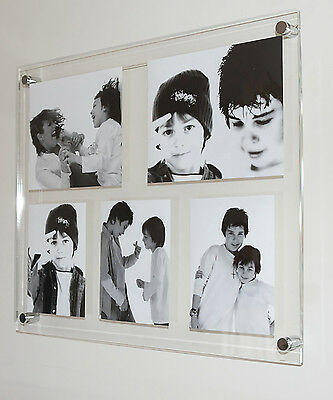 """All colour wall Acrylic multi floating 10x8"""" & 5x7"""" picture photo frame perspex"""