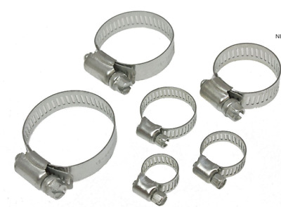 12pc 8mm - 27mm Assorted Jubilee Stainless Steel Hose Clamp Fuel Pipe Clips Set