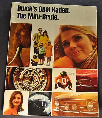 1968 Opel Kadett Catalog Sales Brochure Nice Original 68