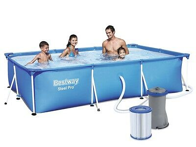 Bestway Swimming Pool 56411 Paddling Pool 300x201x66 Swimming Pool Frame #3588