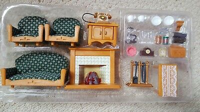 sylvanian families living room set picclick uk. Black Bedroom Furniture Sets. Home Design Ideas