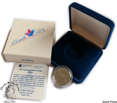 Canada 1992 25 Cent Alberta Proof Sterling Silver Coin