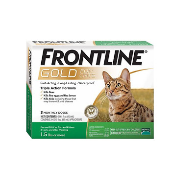Merial Frontline Gold for Cats 3 lbs or more 3 doses