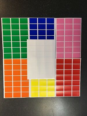 Plain Coloured Self Adhesive Peelable Removable Price Tags Labels Stickers