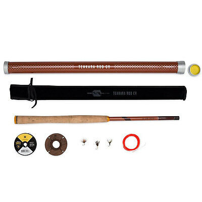 Tenkara Rod Co - The Sawtooth Package Fly Fishing Rod Line Spool & Flies 12' 5:5
