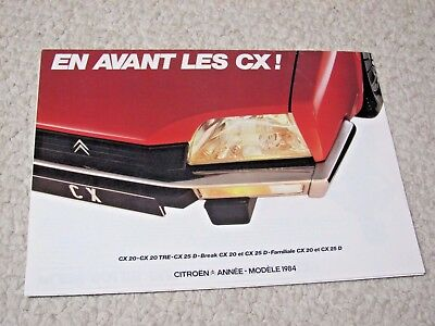 1984 Citroen Cx (France) Sales Brochure.....