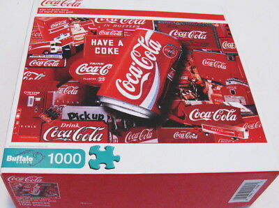 Coca Cola SIgns of Good Taste & Can 1000 Piece Jigsaw Puzzle by Buffalo Games