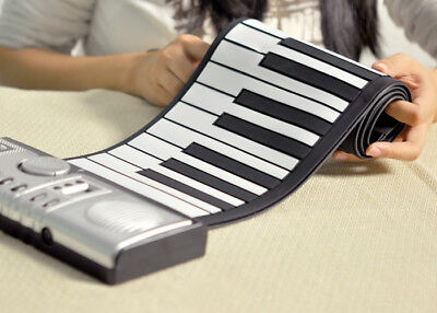 Flexible Keyboard Piano Roll Up Synthesizer Full 61 Soft Keys 128 tones HIGHRate