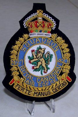 RCAF Royal Canadian Air Force 427 Bomber SQUADRON KC 1939-52  Blazer Badge WWII