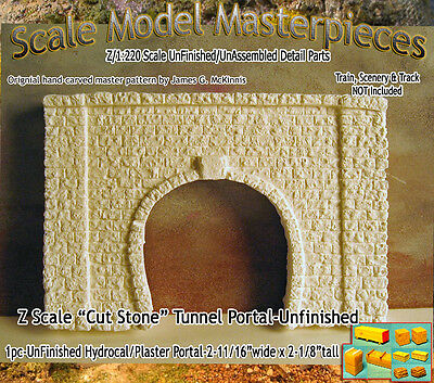 "Z Scale ""Cut Stone"" Tunnel Portal Scale Model Masterpieces *NEW PRODUCT!*"