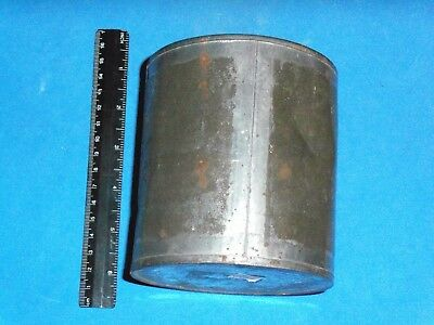 1860's Rare Tin Can with lid, Lead Soldered Seams (ABA 11573)