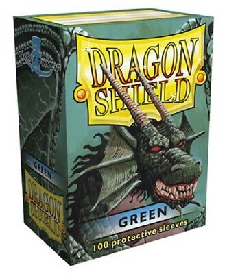 Dragon Shield - 100 Sleeves / Kartenhüllen Standard - Green - OVP