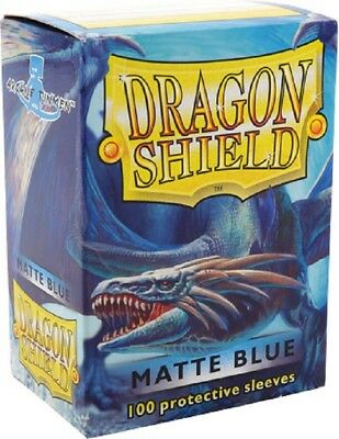 Dragon Shield - 100 Sleeves / Kartenhüllen Standard - Matte Blue - OVP