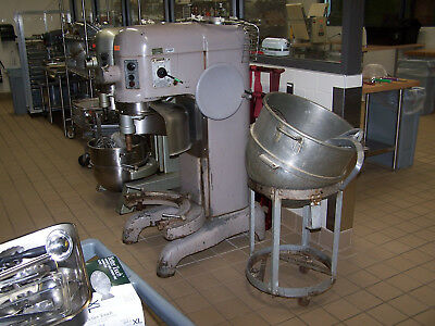 """used""  Hobart Model L800 80Qt Mixer W/ Attachments  And Vml80 Mixing Bowl"