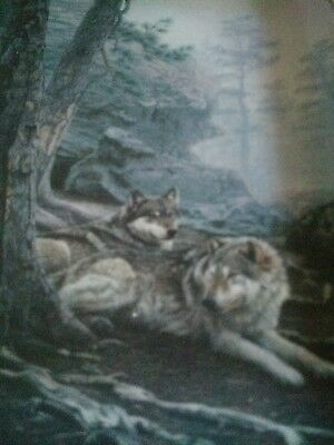 """The Wolves Lie Low"" Nature's Harmony The Bradford Exchange. Plate# 2344E"