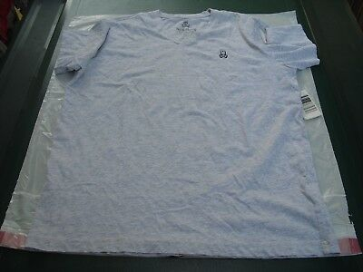 Psycho Bunny V-Neck Logo Tee Men's Size M (5) New with tags.