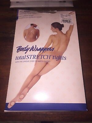 Body Wrappers A91 Jazzy Tan Tall Total Stretch Tights New In Package Convertible