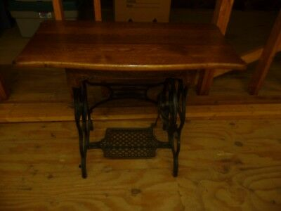 Vintage Antique Oak Sewing Machine Table