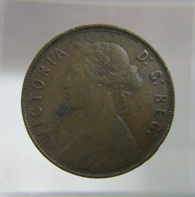 1896 Newfoundland Canada Large One Cent - Victoria is -- Free Shipping *