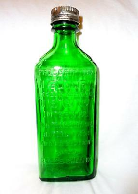 Vintage Reese 1000 Dark Green Medicine Bottle 6 Inches F.E. Reed Glass Co.