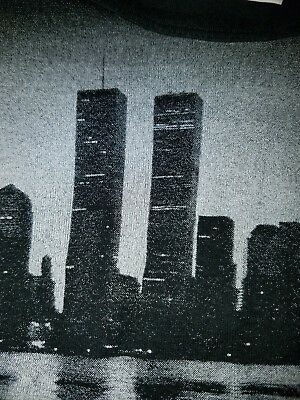 Vintage T-Shirt Twin Towers WTC 911 New York 100%