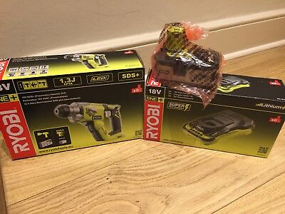 Ryobi R18SDS-0 ONE+ SDS Plus Cordless Rotary Hammer Drill  + Battery + Gharger