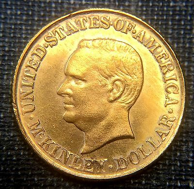 1917 McKinley Memorial $1 Gold  UNC