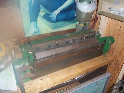 "Metal Finger Brake 16 gauge x 24"" Peck Stow & Wilcox Co. Pan Box brake"