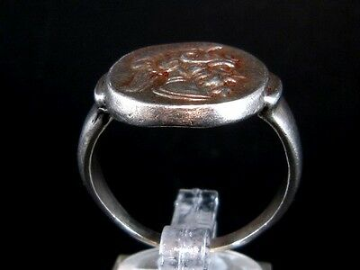 Choice Solid Roman Style Sterling Silver Ring, War God Mars Portrait!!!
