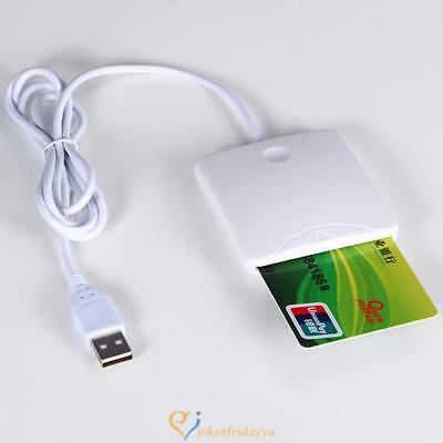 USB Contact Smart Chip Card IC Cards Reader Writer With SIM Slot K2 US