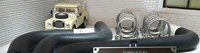 Land Rover Series 2a 2 Smiths Flat Heater Hose & Stainless Clamps Set