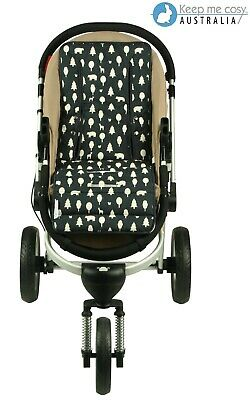 Universal Reversible Pure Cotton Pram Liner by Keep Me Cosy™ - Woodland Friends