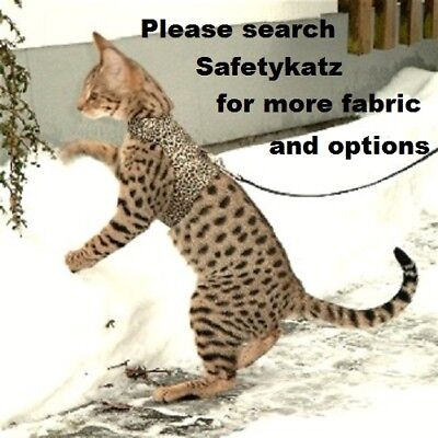 SafetyKatz Walking Jacket Cat Harness1 Reversable Collar Safety Cat Harness Vest