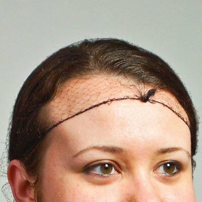 """Royal 28"""" Black Light Weight Hairnet, Disposable and Latex Free, Case of 2880"""