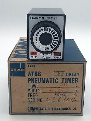 OMRON ATSS OFF Delay Pneumatic Timer Analogue 150 Sec 240VAC 50/60Hz Solid State